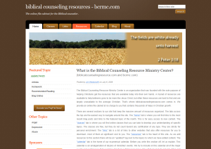 Biblicalcounselingresource.com